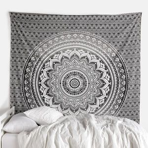 Urban Outfitters inspired grey white tapestry